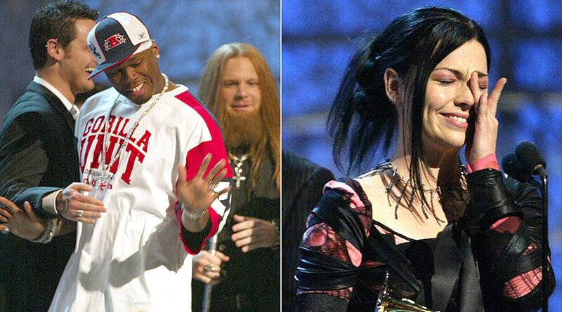 50 Cent'in Grammy Ödülleri Töreni Sırasında Evanescence'in Ödül Alma Anına Karışması