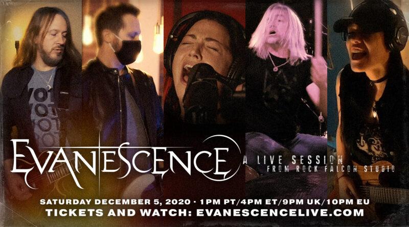 Evanescence 5 Aralık'ta İnternet Üzerinden Konser Yayınlayacak
